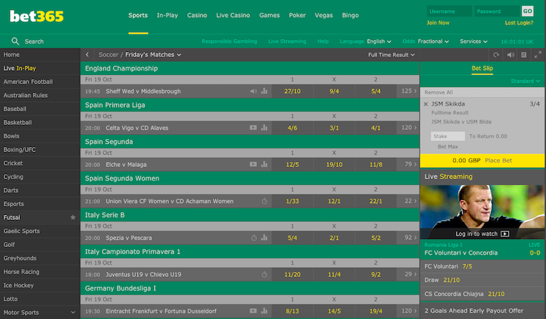 Bet365 Desktop Screenshot Example