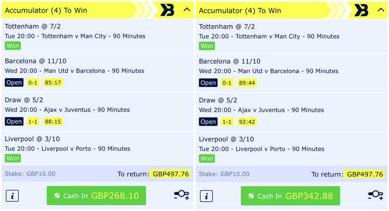 cash out example squeaky bum time