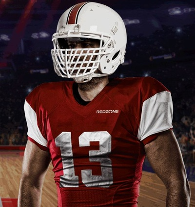 red zone american football player