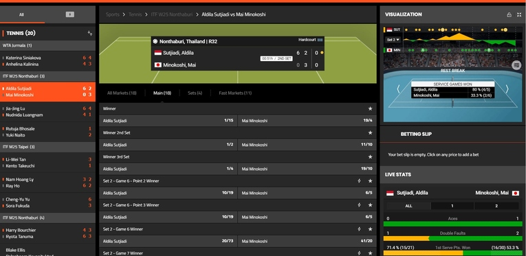 sport nation live betting interface