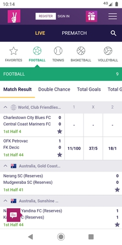 vbet mobile screenshot