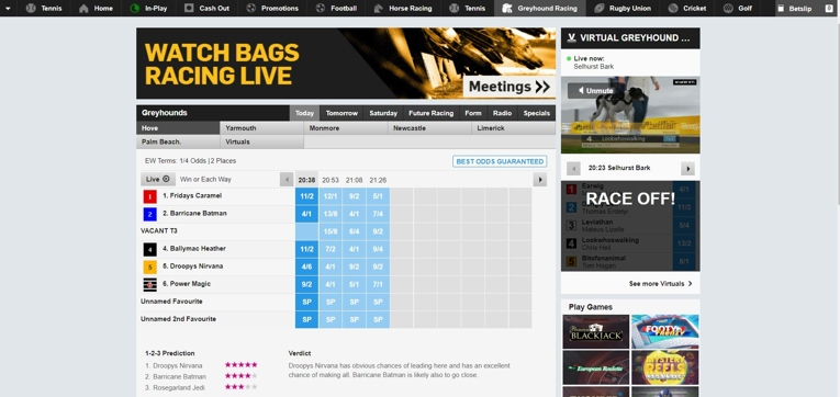 betfair interface