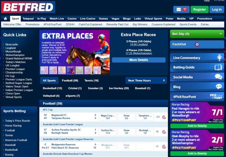betfred homepage screenshot