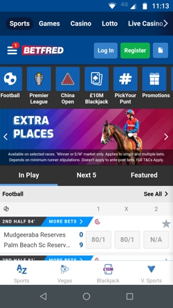 betfred mobile app screenshot example