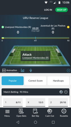 betvictor mobile app in-play