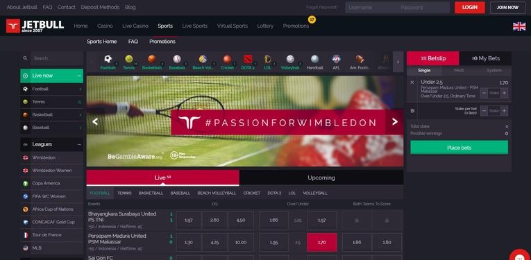 jetbull homepage screenshot