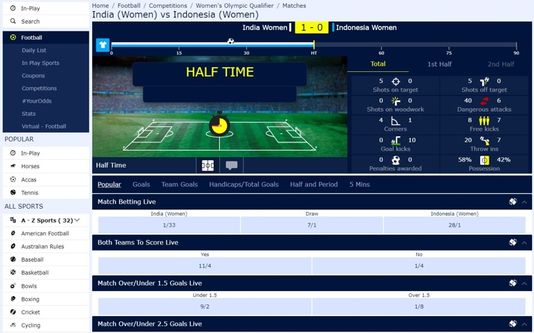 william hill inplay interface