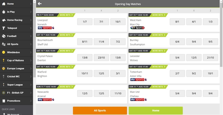 totesport desktop screenshot