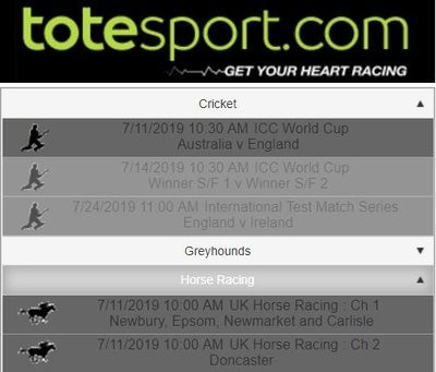 totesport radio interface