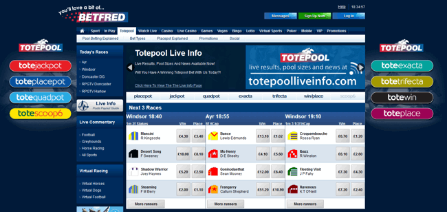 betfred tote