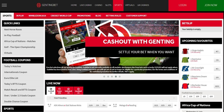 gentingbet homepage screenshot