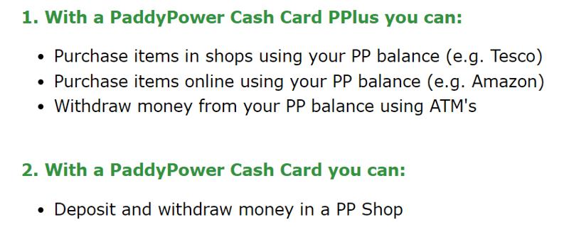 cash card benefits